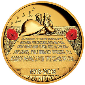 2018 $200 ANZAC Spirit High Relief 2oz Gold Proof Coin