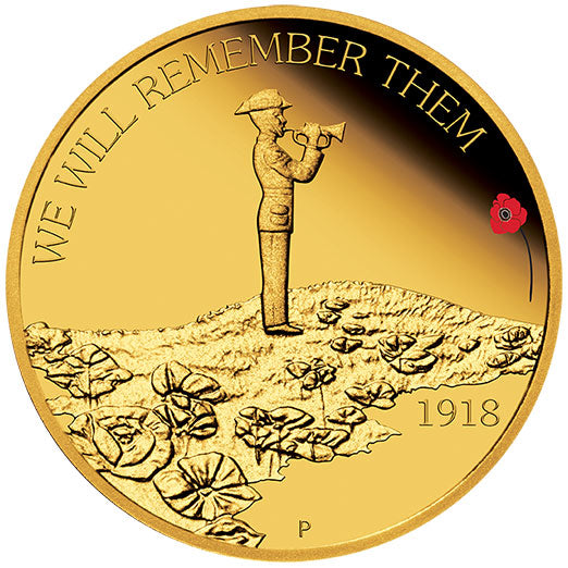 2018 $25 ANZAC Spirit High Relief 1/4oz Gold Proof Coin
