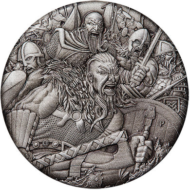 2018 Tuvalu $2 Warfare – Vikings 2oz Silver Coin