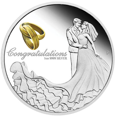 2018 $1 Wedding 1oz Silver Proof