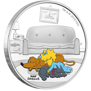 2019 Tuvalu $1 The Simpsons – Maggie 1oz Silver Proof Coin