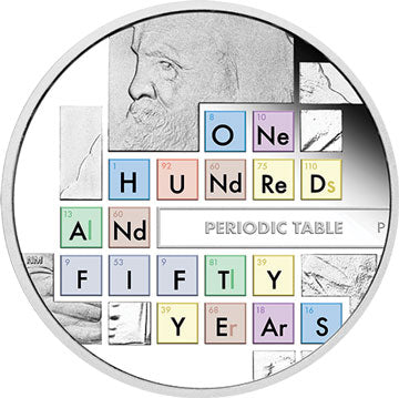 2019 Tuvalu $1 150th Anniv. of Periodic Table 1oz Silver Proof Coin