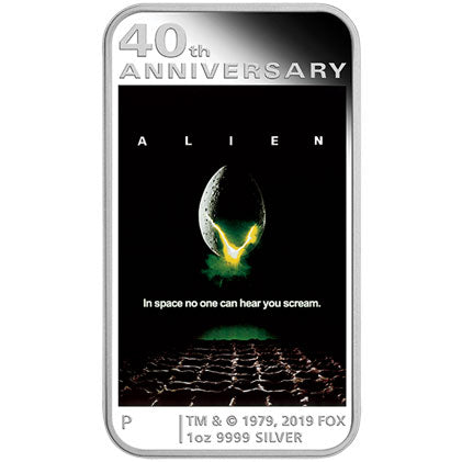 2019 Tuvalu $1 ALIEN 40th Anniversary 1oz Silver Proof Coin