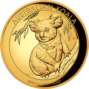 2019 $100 Koala High Relief 1oz Gold Proof