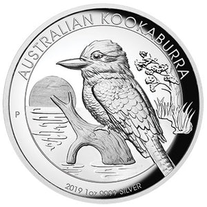 2019 $1 Kookaburra High Relief 1oz Silver Proof