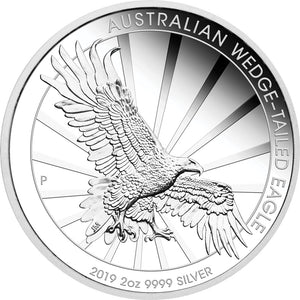 2019 $2 Wedge-Tailed Eagle 2oz Silver Piedfort Proof