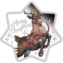 2019 $1 Christmas Reindeer Star-shaped 1oz Silver Proof
