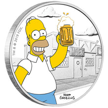2019 Tuvalu $1 The Simpsons - Homer 1oz Silver Proof Coin