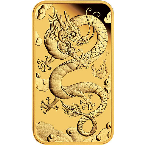 2019 $100 Dragon Rectangular 1oz Gold Proof Coin