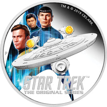 2019 Tuvalu $2 Star Trek Enterprise & Crew 2oz Silver Proof Coin