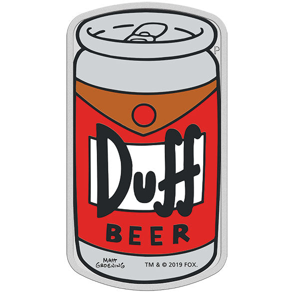 2019 Tuvalu $1 The Simpsons – Duff Beer 1oz Silver Coin