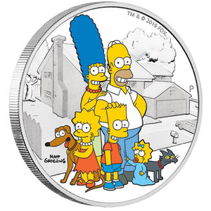 2019 Tuvalu $2 The Simpson Family 2oz Silver Proof Coin