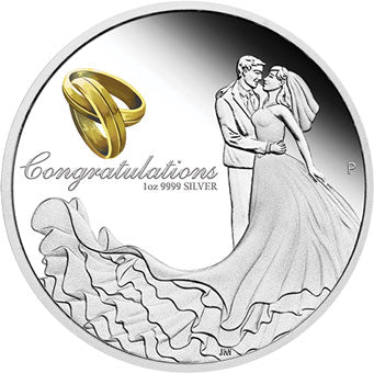 2019 $1 Wedding 1oz Silver Proof Coin