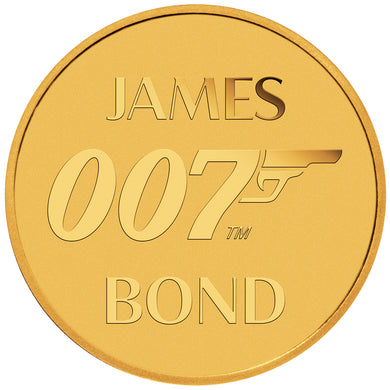 2020 Tuvalu $2 007 James Bond 0.5g Gold Coin