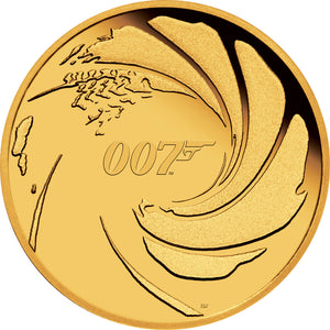 2020 Tuvalu $50 007 James Bond 1/4oz Gold Proof