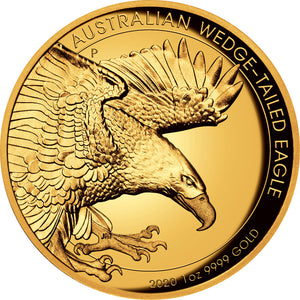 2020 $100 Wedge-Tailed Eagle High Relief 1oz Gold Proof Coin