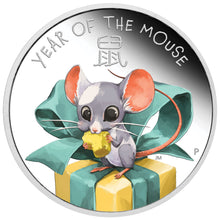 2020 Tuvalu 50c Baby Mouse 1/2oz Silver Proof Coin