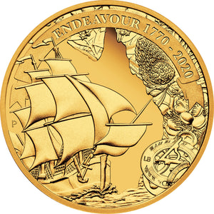 2020 $25 Voyage of Discovery Endeavour 1/4oz Gold Proof Coin