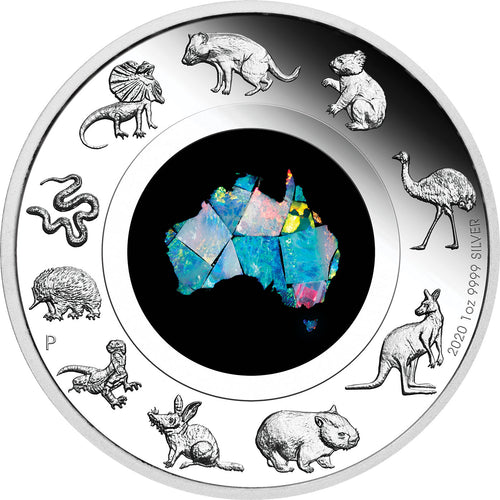 2020 $1 Great Southern Land Opal 1oz Silver Proof