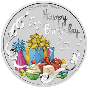 2020 $1 Happy Birthday 1oz Silver Coin