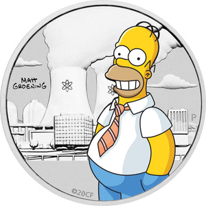 2020 Tuvalu 50c Homer Simpson 1/2oz Silver Coin
