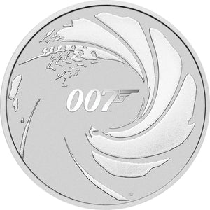 2020 Tuvalu $1 James Bond 007 1oz Silver BU