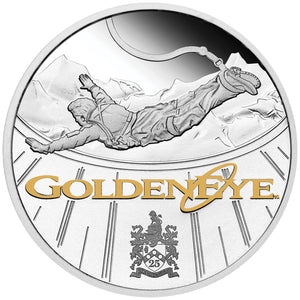 2020 Tuvalu $1 James Bond GoldenEye 25th Anniversary 1oz Silver Proof Coin