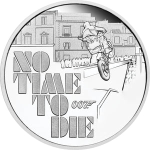 2020 Tuvalu $1 James Bond No Time To Die 1oz Silver Proof Coin