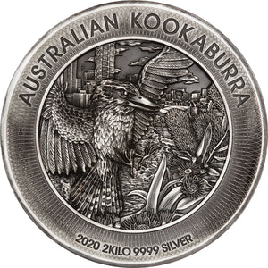 2020 $60 Kookaburra High Relief 2kg Silver Coin
