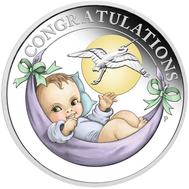 2020 50c Newborn Baby 1/2oz Silver Proof Coin