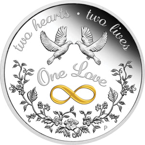2021 $1 One Love 1oz Silver Proof Coin