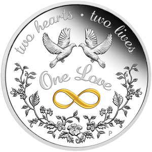 2020 $1 One Love 1oz SIlver Proof Coin