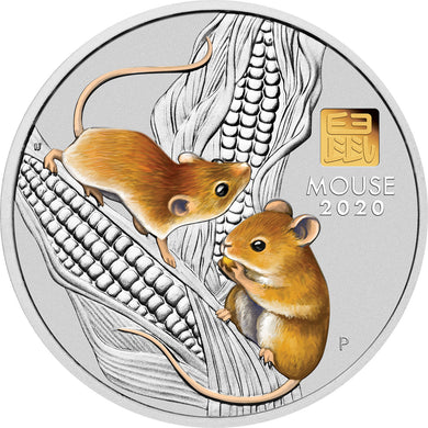 2020 $30 Year of the Mouse 1kg Silver Coin