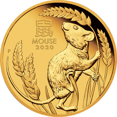 2020 $25 Year of the Mouse 1/4oz Gold Proof Coin