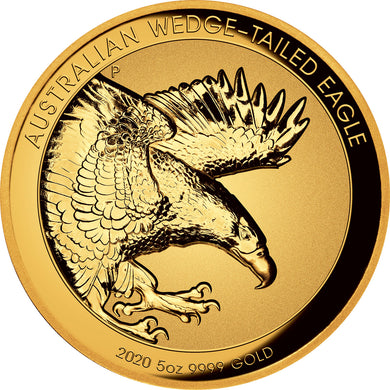 2020 $500 Wedge-Tailed Eagle Incuse Relief 5oz Gold Proof
