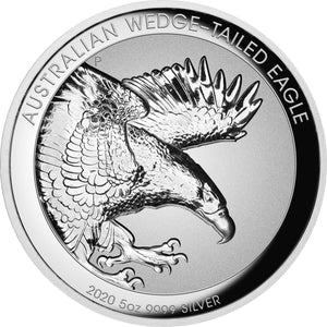 2020 $8 Wedge-Tailed Eagle Incuse Relief 5oz Silver Proof