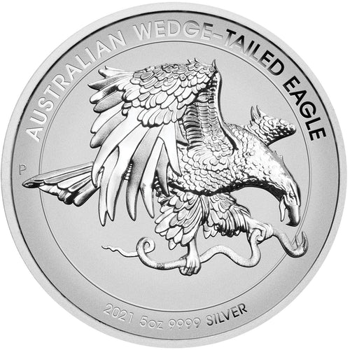 2021 $8 Wedge-Tailed Eagle High Relief 5oz Silver Enhanced Reverse Proof