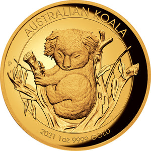 2021 $100 Koala High Relief 1oz Gold Proof