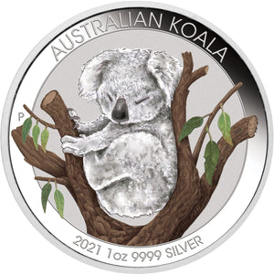 2021 $1 Koala Brisbane Money Expo 1oz Silver Unc