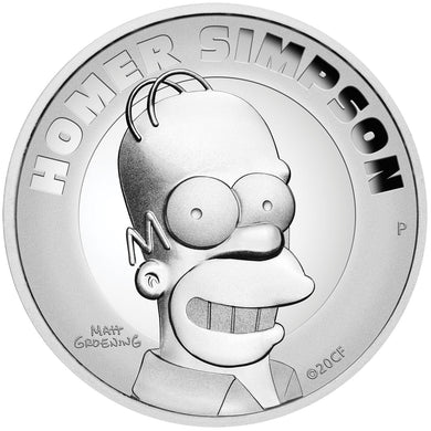 2021 Tuvalu $2 Homer Simpson High Relief 2oz Silver Proof