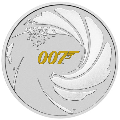 2021 Tuvalu $1 James Bond 007 Colour 1oz Silver Coin