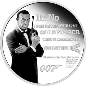 2021 Tuvalu $1 James Bond Legacy – Connery 1oz Silver Proof