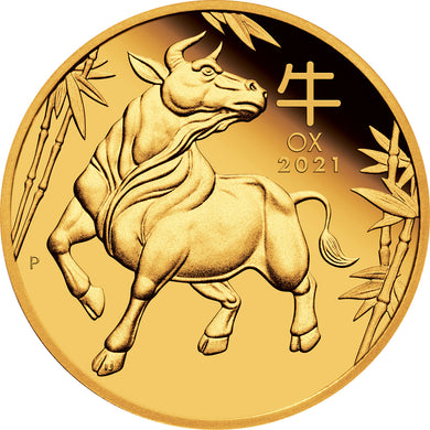 2021 $100 Lunar Series III - Year of the Ox 1oz Gold Proof Coin