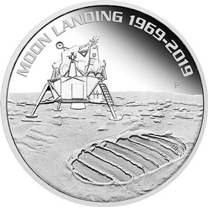 2019 $1 Moon Landing 1oz Silver Proof Coin