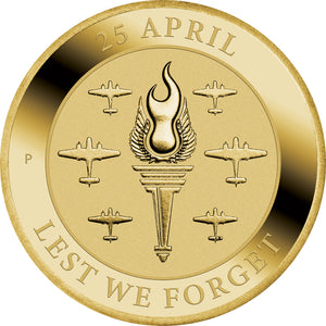 2021 $1 Anzac Day – Lest We Forget Al-Br Coin