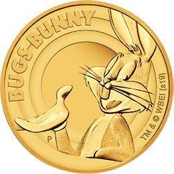 2019 Tuvalu $25 BUGS BUNNY 1/4oz Gold Proof Coin