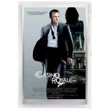 007 James Bond Movie Poster - Casino Royal 5g Silver Foil