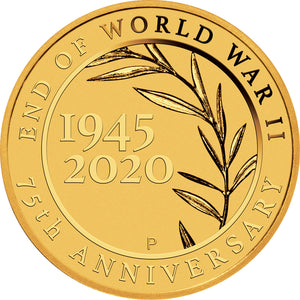 2020 $2 End of WWII 0.5g Gold Coin