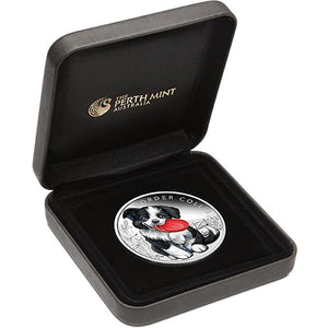 2018 Tuvalu 50c Puppies – Border Collie 1/2oz Silver Proof Coin