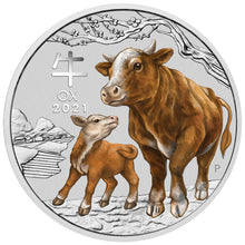 2021 25c Sydney ANDA Year of the Ox 1/4oz Silver BU